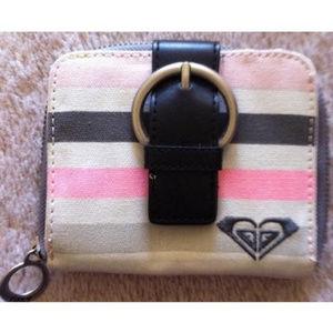 Roxy Striped Canvas Mini Accordion Wallet